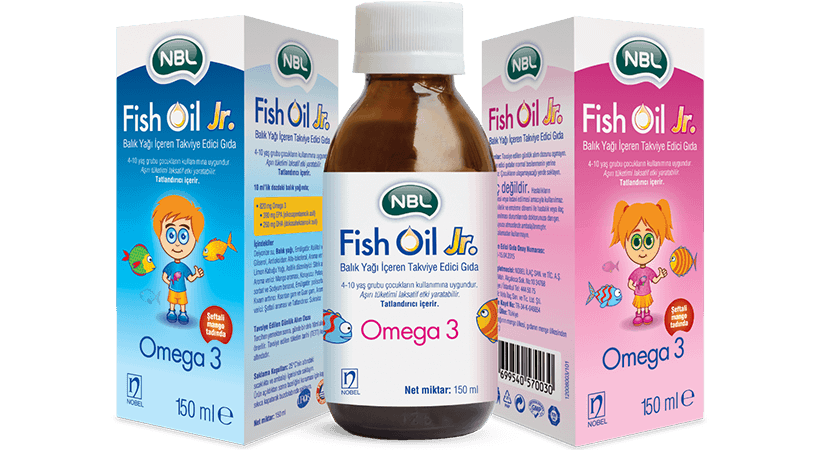 NBL Fish Oil jr. 390mg/260mg 150ml Bottle